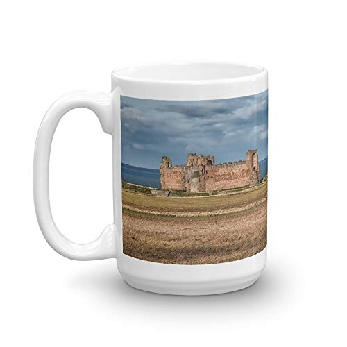Tantallon Castle - Tantallon Castle and Bass Rock. 15 Oz Ceramic Coffee Mug Also Makes A Great Tea Cup With Its Large, Easy to Grip C-handle