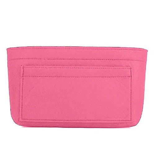 Felt Insert Bag Organizer Bag In Bag For Handbag Purse Organizer, Six Color Three Size Medium Large X-Large (Large, Pink) by ZTUJO (Image #2)