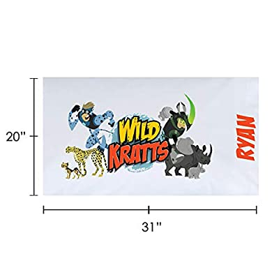 Personalized Wild Kratts Pillowcase, Creature Power on White Cover, Official Licensed Product, 20x31, STD/Queen: Home & Kitchen