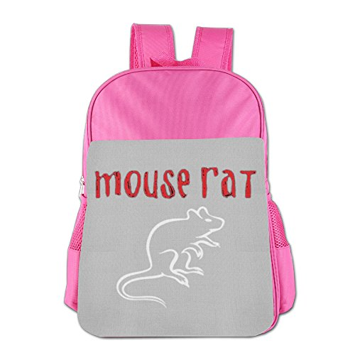 [BlackPink Cute Mouse Rat, Ladies Printed School Bag Backpack For 4~15 Years Old Children] (Rat Pack Women's Costume)