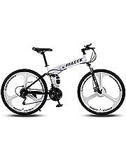 دراجة جبلية قابلة للطي 21 سرعة للكبار من الجنسين من MACCE ، ثلاث عجلات 66.04 سم، أبيض، مقاس L