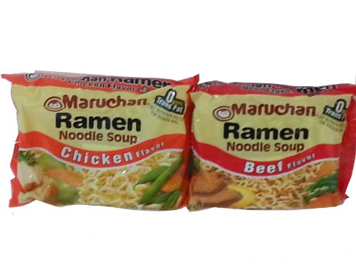 Noodles Case (Maruchan Ramen Noodle Soup Variety Pack,12 Beef 3-ounce Packages & 12 Chicken 3-ounce Packages , Total of 24 Packages)
