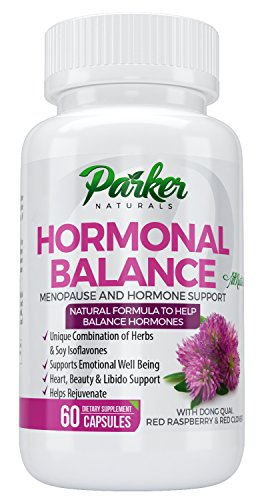 Hormone Balance with Menopause & Estrogen Support Supplements by Parker Naturals. Natural Formulation with Unique Combination of Herbs & Soy Isoflavones. 60 Count