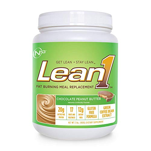 Body Shake Chocolate Peanut Butter - Nutrition 53 Lean 1 Dietary Supplement, Chocolate Peanut Butter, 1.98 lb