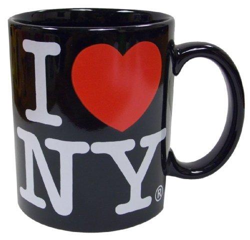 I Love NY Black 11 oz Coffee Mug, Microwave and Dishwasher Safe]()