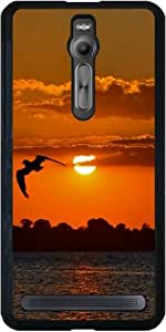 Funda para Asus Zenfone 2 (ZE551ML) - La Puesta Del Sol Con El Pájaro by WonderfulDreamPicture