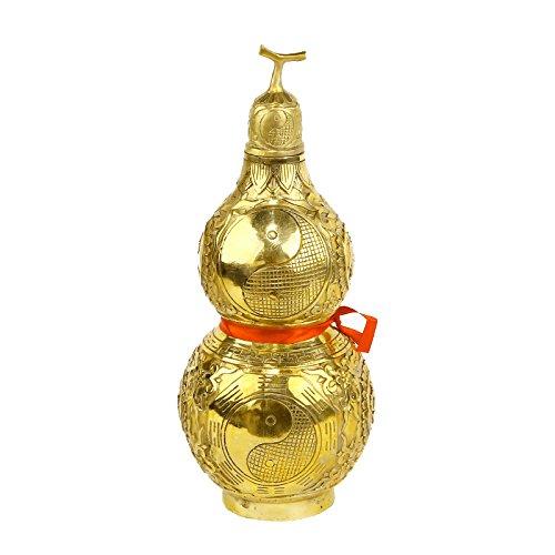 I-MART Brass Gourd for Feng Shui, Wu Lou/Hulu/Lou Shui Feng Shui Decorative Products (5.5 Inches) - Wu Lou Feng Shui