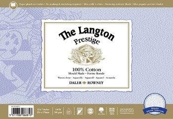 Daler Rowney Langton Prestige 140lb Gummed Watercolour (NOT) Block - 12 x 9