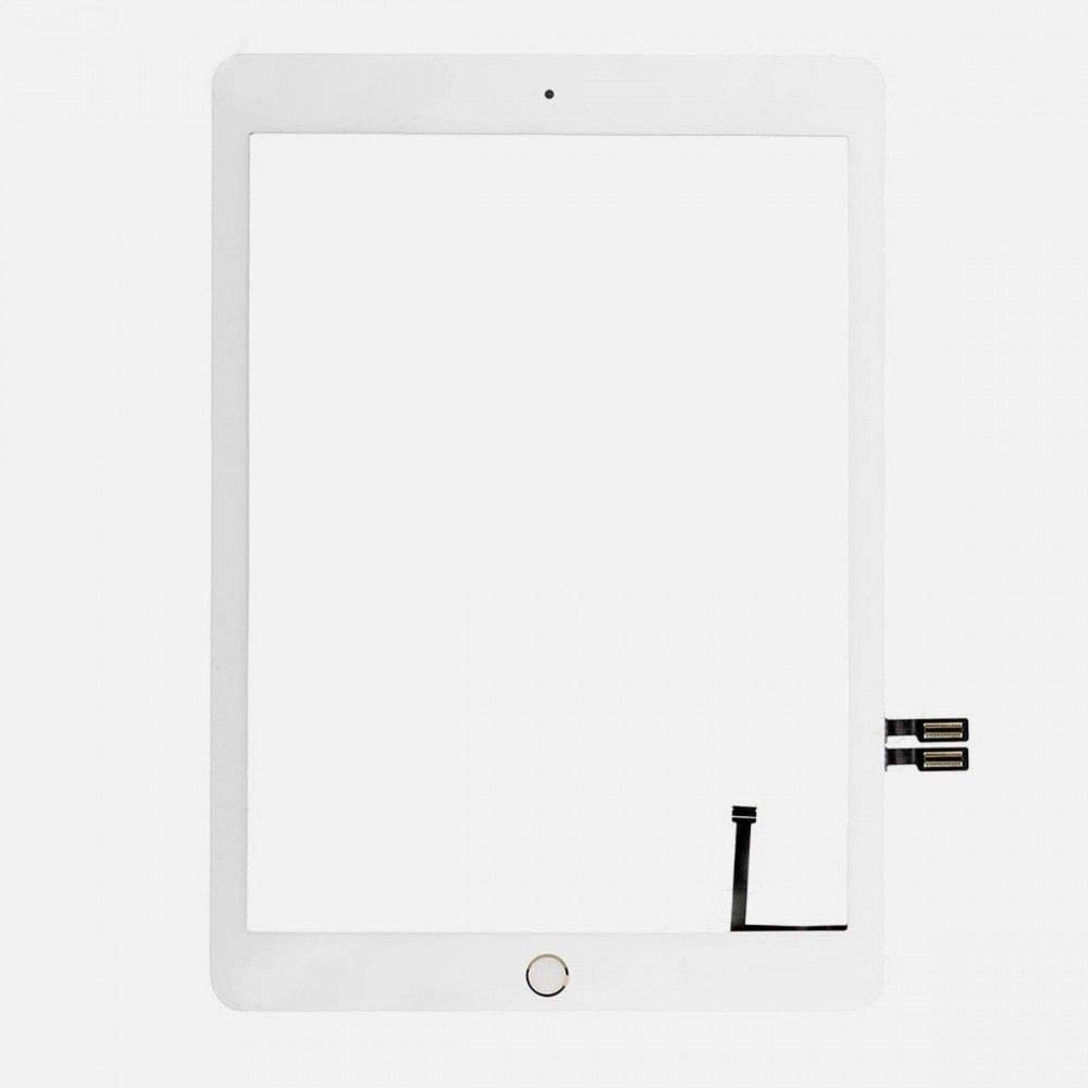 """BESTeck White Screen Glass Digitizer Replacement Kit for iPad 9.7"""" (2018) iPad 6 6th Gen A1893 A1954 with Gold Home Button, Pre-Installed Adhesive and Tools"""