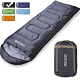 Sleeping Bag - Envelope Lightweight Portable Waterproof, for Adult 3 Season Outdoor Camping