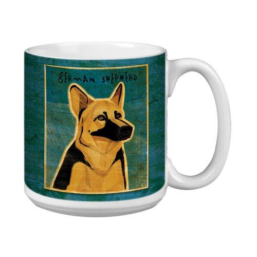 German Shepherd Merchandise - Tree-Free Greetings XM28004 John W. Golden Artful Jumbo Mug, 20-Ounce, German Shepherd