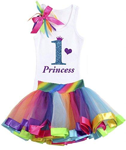 Bubblegum Divas Baby Girls' 1st Birthday Rainbow Tutu Set