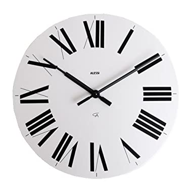 14.17  Firenze Wall Clock Color: White / Black