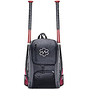 FavorGear Youth Baseball Bag - Backpack for Baseball, T-Ball, Softball Equipment Gear for Kids, Youth, and Adults - Fits 2 Bats, Helmet, Glove, Shoes - Vented Shoe Compartment, Fence Hook