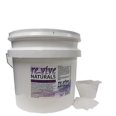 Re-vive Naturals Magnesium Chloride Flakes 12 Lbs Food Grade Quality
