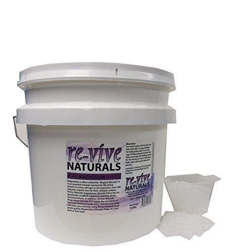 Re-vive Naturals Magnesium Chloride Flakes 12 Lbs Food Grade