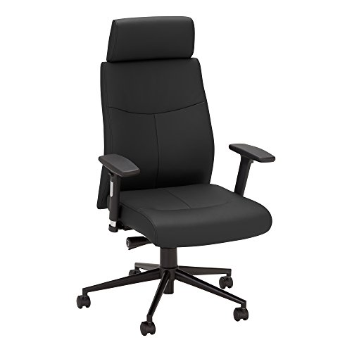 Norwood Commercial Furniture Ergonomic Fully-Adjustable Executive Office Desk Chair with Headrest, Black, NOR-OUG3000BK-SO by Norwood Commercial Furniture