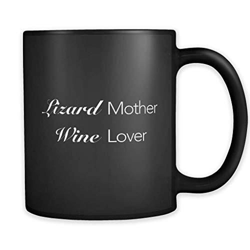 Lizard Mother Wine Lover Black Mug, Lizard Mother Mug, Lizard Mother Gift, Lizard Gift, Lizard Mug Lizard Owner Mug Lizard Owner Gift GIFY204