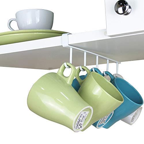 SYIDINZN Kitchen Mug Hooks Hanger Organizer Under Cabinet Sh