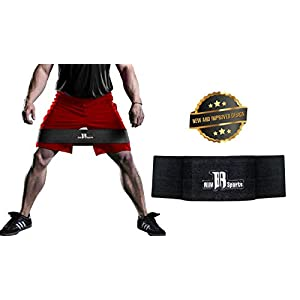 Premium Hip Resistance Circle Bands From RIMSports - Ideal Hip Band & Light Users For Squat Exercises - Elite Abductor Sling For Men And Women - Best Circle Workout Bands For Legs Glutes (Black) L