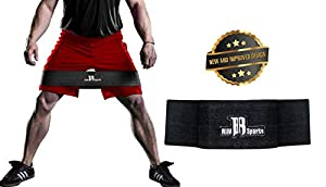 RIMSports Elite Hip Sling Resistance Bands Best Abductor Resistance Band for Squats - Ideal Hip Band Circle for Lunges - Premium Hip Band for Hips & Glutes Exercises (Black) M