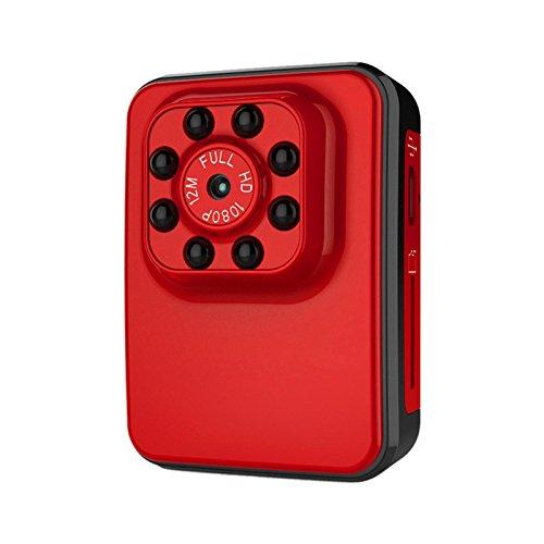 Meiyiu Super Hi-Vision 1080P Micro Camera USB 2.0 Port Night Vision Mini Camcorder Action Camera DV DC Video Recorder red by Meiyiu