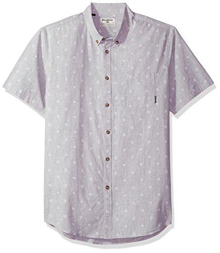 Billabong Men's Sundays Mini Short Sleeve Top, Light Grey Heather, 2XL