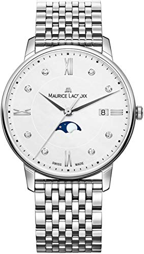 Maurice Lacroix Women's Eliros Moonphase 35mm Watch | White/Silver
