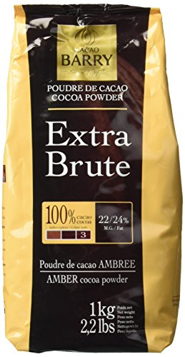 Cacao Barry Cocoa Powder - 100% Cacao - Extra Brute - Six 2.2 Bags ()
