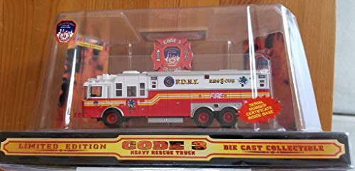 Heavy Rescue Truck - Code 3 Heavy Rescue Truck #12701, 1/64 Scale, New!
