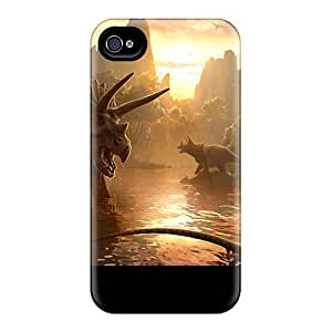Iphone 4/4s Case Cover Skin : Premium High Quality Triceratops Case
