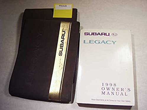 1998 subaru legacy owner s manual subaru amazon com books rh amazon com 1998 subaru legacy service manual pdf 1998 subaru legacy outback owners manual pdf