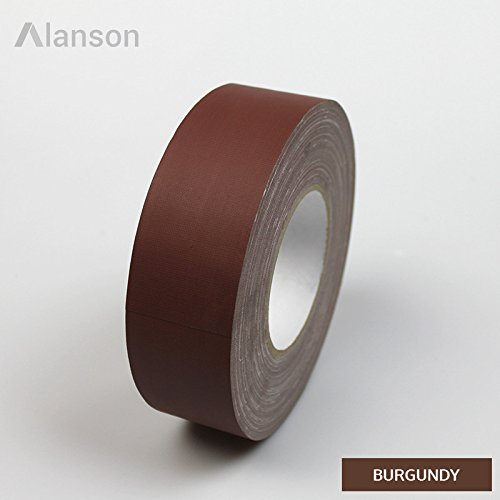 2''(48mm) Standard Gaffers Tape 45 Yards (Burgundy) Case by Alanson Products