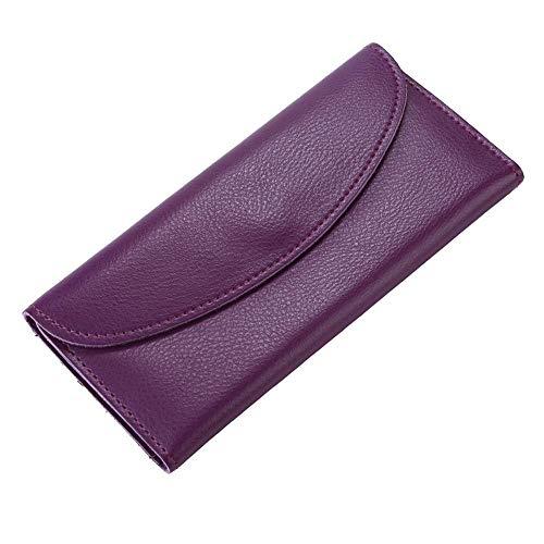Hommes monnaie Femmes Purple Pu Weohau Noir Portefeuille Multi Luxe Long Simple Pochette Porte fonction BfwExZa
