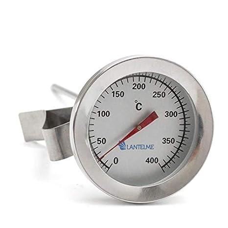 Compra Lantelme - Horno de acero inoxidable 400 ° c grados, horno de leña, horno / parrilla termómetro con el clip. analógico y bimetálico en Amazon.es