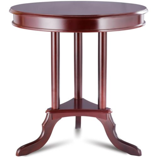 Mahogany Round End Table Side Table Home Furnishing Accent Table Shelf