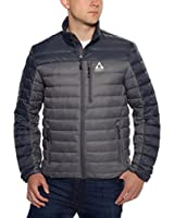 Gerry Men's Lightweight Warm Feather Down Winter Jacket, Full Zip