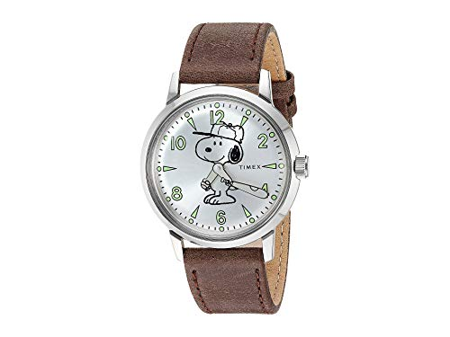 Timex Marlin Snoopy Silver/Brown One Size