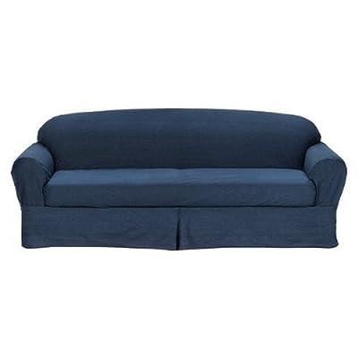 Indigo Denim 2 Piece Sofa Slipcover, Home Slip Cover