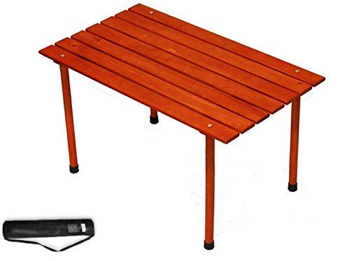 折りたたみピクニックテーブル 木製素材 ブラウン 耐久性 高耐久性構造 多目的 ポータブル アウトドア パーティー ポーチ 庭 キャンプ キャリーバッグ付き 電子書籍付き   B079R131LH