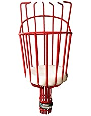 Fruit Picker Tool Picking Harvester Basket Long Reach Grabber Orchard Lightweight Bruise Free and Metal Wire for Apple Pear Peach