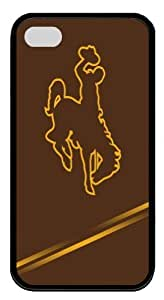Wyoming Cowboys Iphone 4 4S Case Rubber Material Black