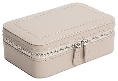 WOLF 392221 Sophia Zip Case Jewelry Box, Mink