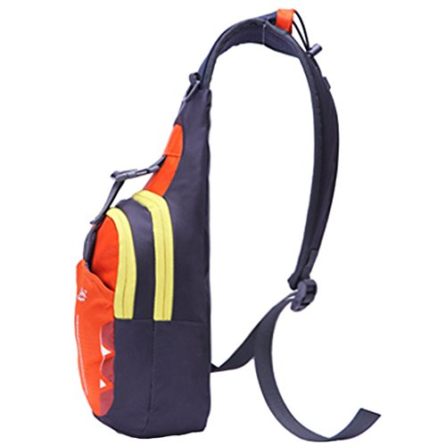 Running Crossbody Orange Chest Pouch Bag Diagonal Package Casual Unisex Sports Magideal Rucksack wP0YxOgqP
