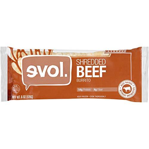 (Evol, Shredded Beef Burrito, 6oz (Frozen))