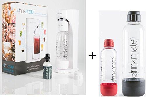 (Drinkmate Carbonated Beverage Maker with 3 oz Test Cylinder (White))