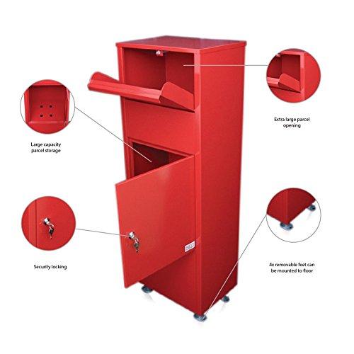 Unterschiedlich Metz groß rot Briefkasten Post Box Mail Briefkasten Drop hoch  BO05