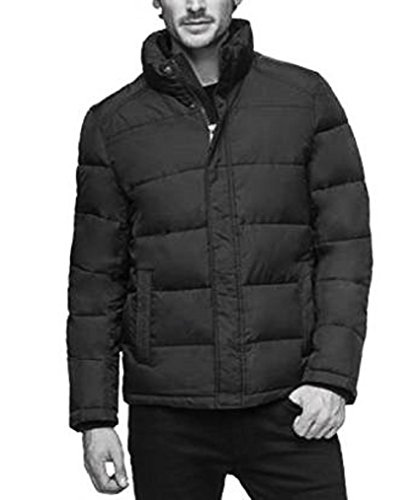 Andrew Marc Mens Jacket - Andrew Marc Men's Full Zip Puffer Jacket Smoke Black,Size XXL