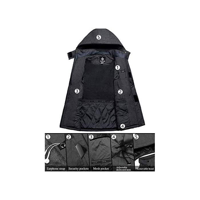 41R W2ZlOzL Ocasiones: una chaqueta con aislamiento esencial para viajes al aire libre y esencial, trajes ideales para esquí alpino, snowboard, deportes de nieve, senderismo, montañismo, camping, escalada, ciclismo y otras actividades de invierno al aire libre. Chaqueta para la nieve cálida y duradera: el tejido de la capa exterior es muy duradero y resistente al desgaste, y el forro de vellón suave interior es lo suficientemente grueso para mantenerte abrigado y cómodo durante el frío invierno, pero transpirable. También la costura es reforzada, lo suficientemente sólida como para usarla durante años. Poliéster