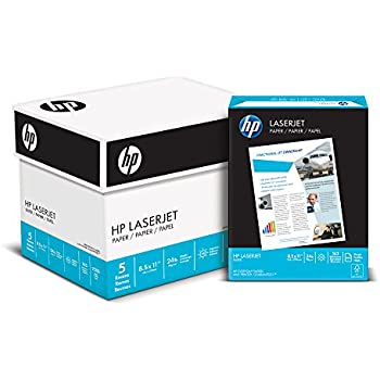 HP Paper, Laserjet Poly Wrap, 24lb, 8.5 x 11, 98 Bright, 2500 Sheets / 5 Ream Case (115300C) Made In The USA